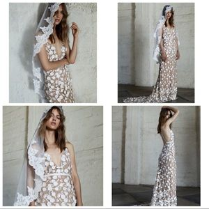 For Love and Lemons Marguerite Floral Petal Gown